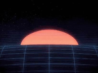 Sun Loop 80s Retro Rising Gifs Neo