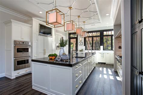 graceful chic chefs kitchen  open dining room
