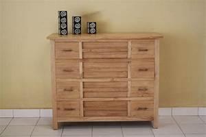 Commode 12 Tiroirs : achat commode en teck massif une commode quip e de 12 tiroirs pour plus de rangement ~ Teatrodelosmanantiales.com Idées de Décoration