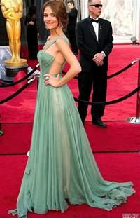 Sage Green Carpet maria menounos oscars red carpet dress sweetheart sage