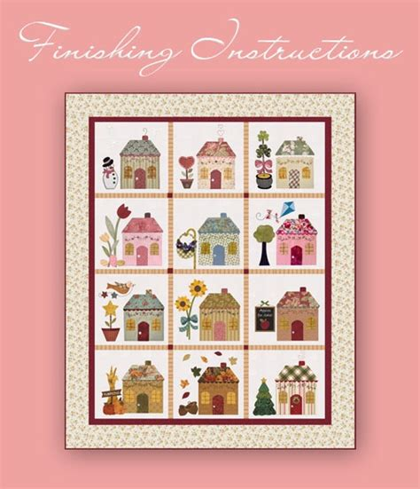 shabby fabrics country cottages shabbyfabrics com offers free patterns on their website quot country cottages quot block of the month