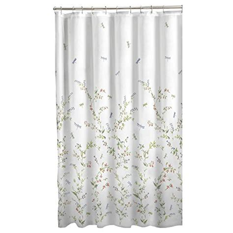 sheer fabric shower curtain maytex dragonfly garden semi sheer fabric shower curtain