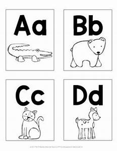 animal alphabet letter cards word wall cards words With zoo phonics letter cards