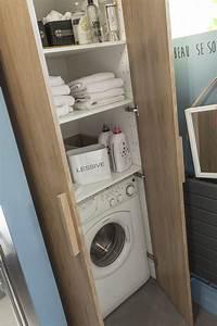 Lave Linge Dans Salle De Bain : cache lave linge rangement pinterest lave linge et lave ~ Preciouscoupons.com Idées de Décoration