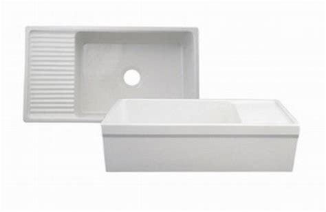 whitehaus farmhouse sink with drainboard whitehaus whqd540 bi farmhaus quatro alcove reversible