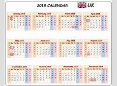 January 2018 Calendar With Holidays UK 2018 calendar