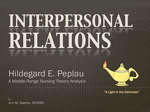 Hildegard Peplau Interpersonal Relations Ppx