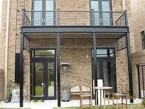 Terrasse Metallique Suspendue : balcon et structure en acier pour habiller votre ext rieur extension balcon ext rieur ~ Dallasstarsshop.com Idées de Décoration