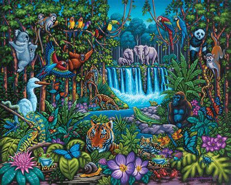 22x28 frame jungle dowdle folk