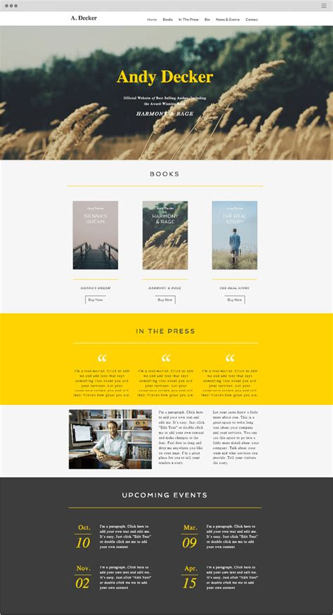 turn page into template wix 15 free website templates with built in features