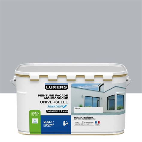 peinture facade cuisine peinture façade universelle luxens gris cendré 2 5 l
