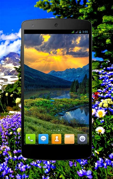 [free] Mountain Spring Live Wallpaper Android