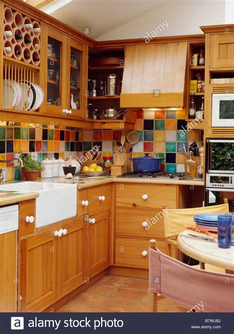 white tile kitchen backsplash multi coloured wall tiles in kitchen dining room with