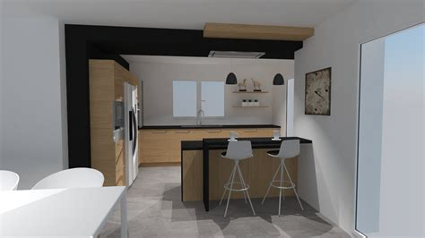 cuisine chene clair plan travail noir cuisine noir plan de travail bois blanc chaios com