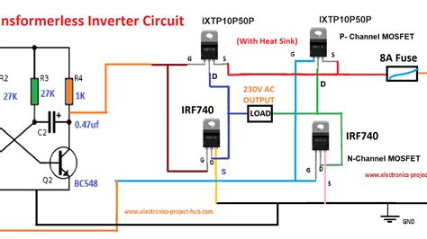 Simple Power Inverter Circuit Diagram Somurich