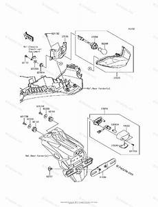 Kawasaki Motorcycle 2017 Oem Parts Diagram For Taillight S