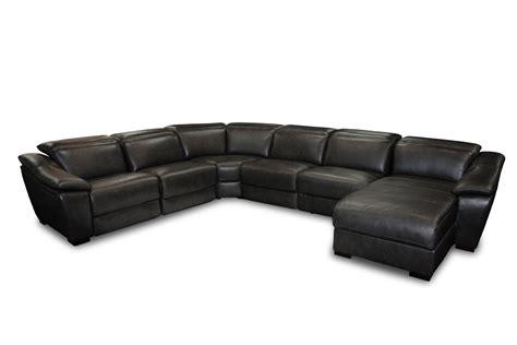 black leather sectional divani casa jasper modern black leather sectional sofa