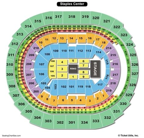 staples center seating chart seating charts