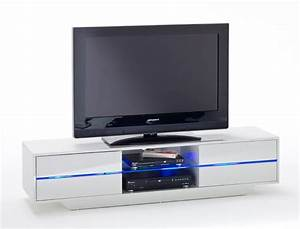 Tv Möbel Weiß : lowboard jazz 160x36x40 cm wei tv board tv m bel led beleuchtung wohnbereiche wohnzimmer tv ~ Buech-reservation.com Haus und Dekorationen