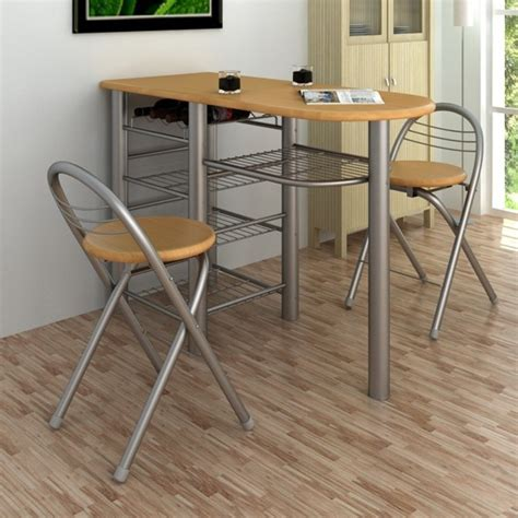 table haute avec chaise kitchen breakfast bar table and chairs set wood