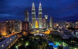 배경 화면 쿠알라 룸푸르, 말레이시아, 도시의 밤, 조명, 건물 1920x1200 HD 그림, 이미지