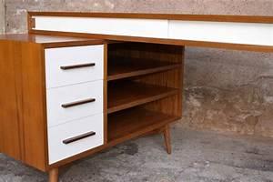 Caisson Tiroir Bois : bureau en teck caisson et tiroirs fabrication artisanale for me lab ~ Teatrodelosmanantiales.com Idées de Décoration