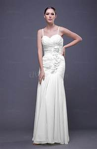 white romantic column spaghetti sleeveless backless With backless dress wedding guest
