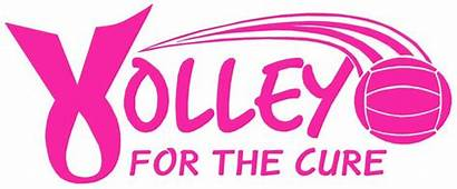 Volleyball Cancer Cure Quotes Volley Dig Shirt
