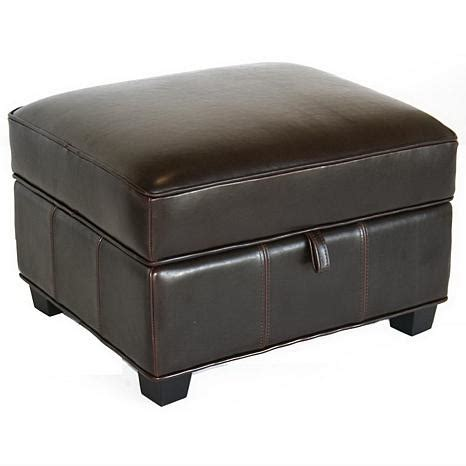 Brown Leather Ottoman by Benvolio Brown Leather Ottoman 6439637 Hsn