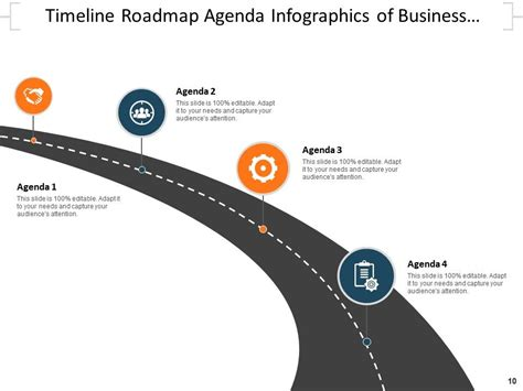 agenda infographics business meeting timeline roadmap