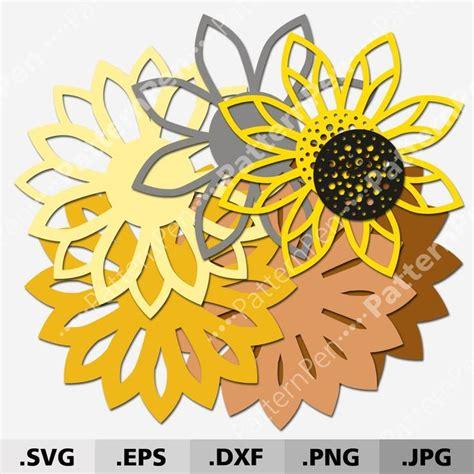 Download free layered mandala svg free svg here. 3D Mandala Sunflower SVG files for Cricut Silhouette ...