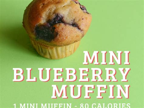 100 calorie mid morning snacks mini blueberry muffins