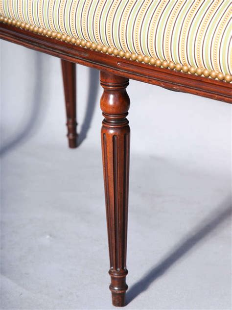 Narrow Settee by Upholstered Settee In Narrow Form At 1stdibs
