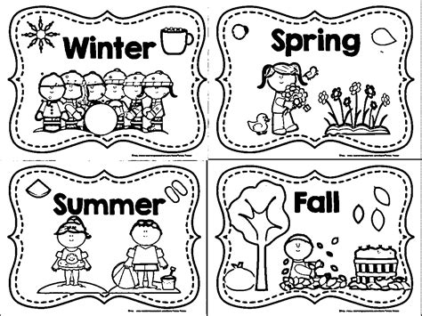 seasons coloring pages sketch coloring page