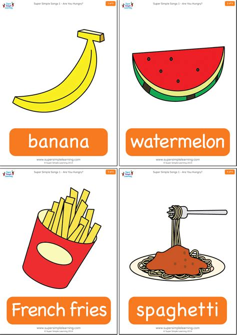 hungry flashcards super simple