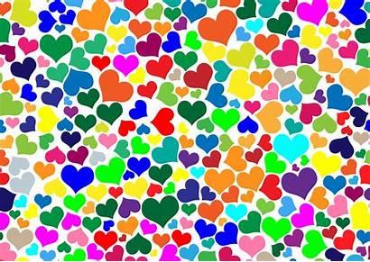 Background Colors Colorful Hearts Clipart Backgrounds Transparent