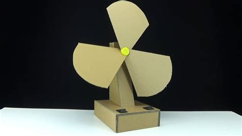 how to make an electric table fan from cardboard two speed