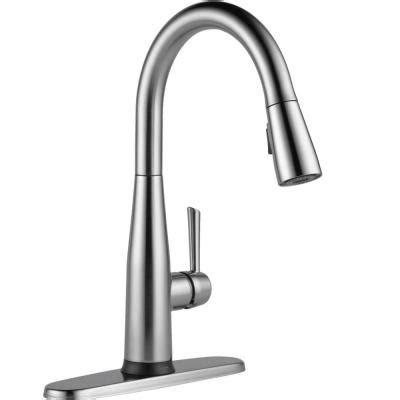 delta touch kitchen faucet home depot delta essa touch2o technology single handle pull