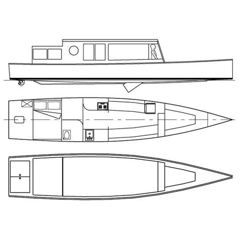 Boat Drawings Plans by Tc35 Lightweight Liveaboard Riverboat Canal Boat Storer