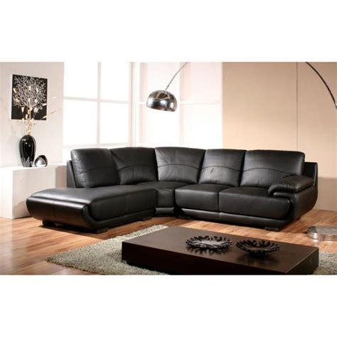 canape angle droit cuir canapé design angle droit cuir noir mozart achat vente