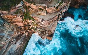 Men, Nature, Landscape, Mountains, Birds, Eye, View, Sea, Rock, Cliff, Waves, Trees, Wallpapers, Hd