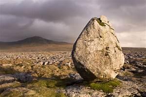Erratic boulder and Ingleborough, Twisleton Scars - Fran ...  Erratic
