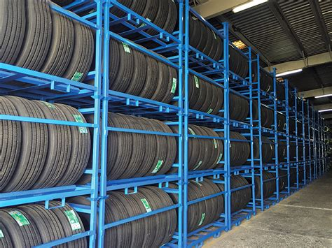 stacking tire rack store space racks