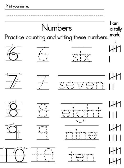 Writing Number Words Worksheets Kindergarten #18 Worksheet