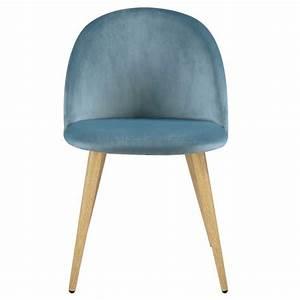 Chaise Scandinave Verte : chaise cozy en velours vert lot de 2 achetez les ~ Teatrodelosmanantiales.com Idées de Décoration