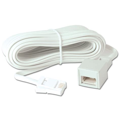 extension chambre 5m telephone extension cable from lindy uk