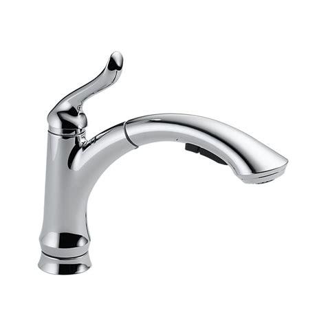 Delta Linden Kitchen Faucet 4353 Sssd Dst by 4353 Dst Linden Single Handle Pull Out Kitchen Faucet