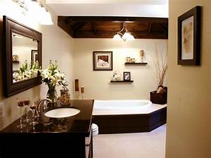 Laporta Design Contemporary Neutral Bathroom With Dark Wood Accents Hgtv