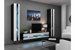 Meuble Tv Suspendu Led : ensemble meuble tv mural olermo chloe design ~ Melissatoandfro.com Idées de Décoration