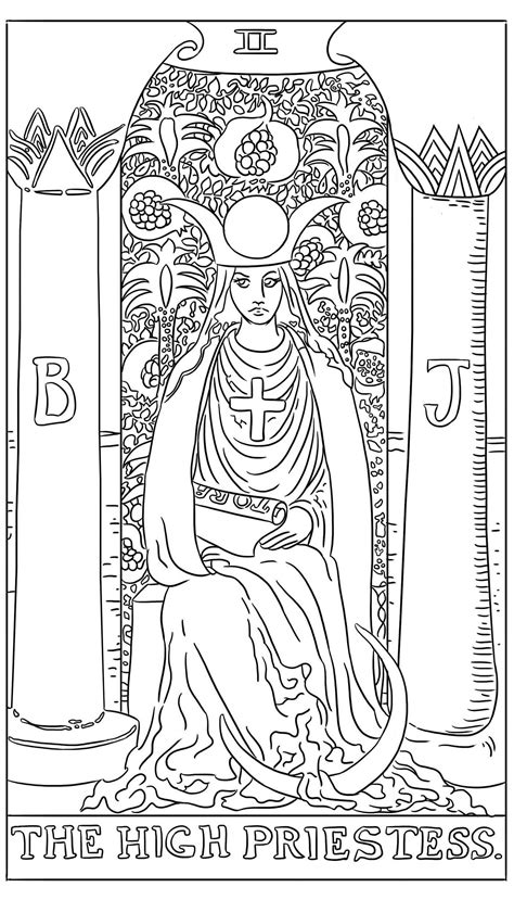 tarot card coloring pages collection coloring  kids